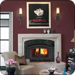 London Chimney appliance - Astria Montecito Estate Wood Fireplace