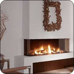 London Chimney appliance - Element4 Trisor 140 Linear Gas Fireplace