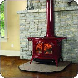 London Chimney appliance - Vermont Castings Defiant Wood Stove in Bordeaux
