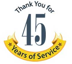 thank you for 45 years of service